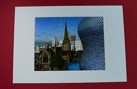 Positively Birmingham Prints; St Martin's and Selfridges;  A4 Print in A3 artic white mount ready to frame