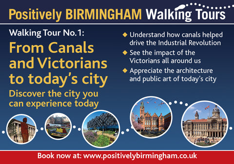 13:30 - 15:30 Sat 27th March  2021 Tour 1 - Canals and Victorians to today's city