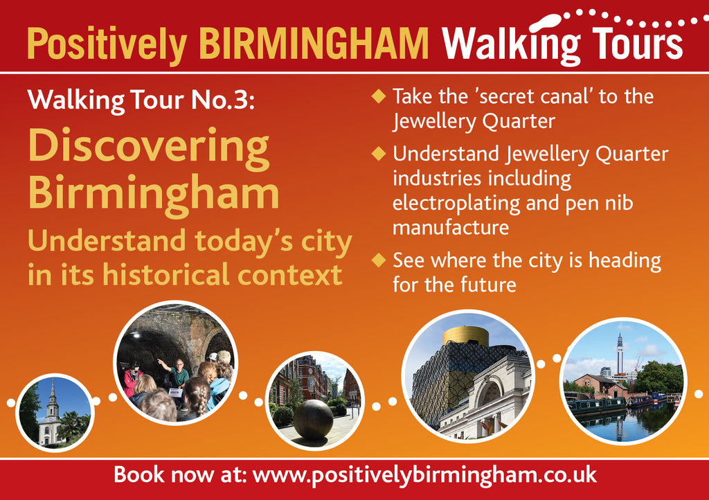 Sunday 2nd August 2020, 13.30 - 15.15. Discovering Birmingham