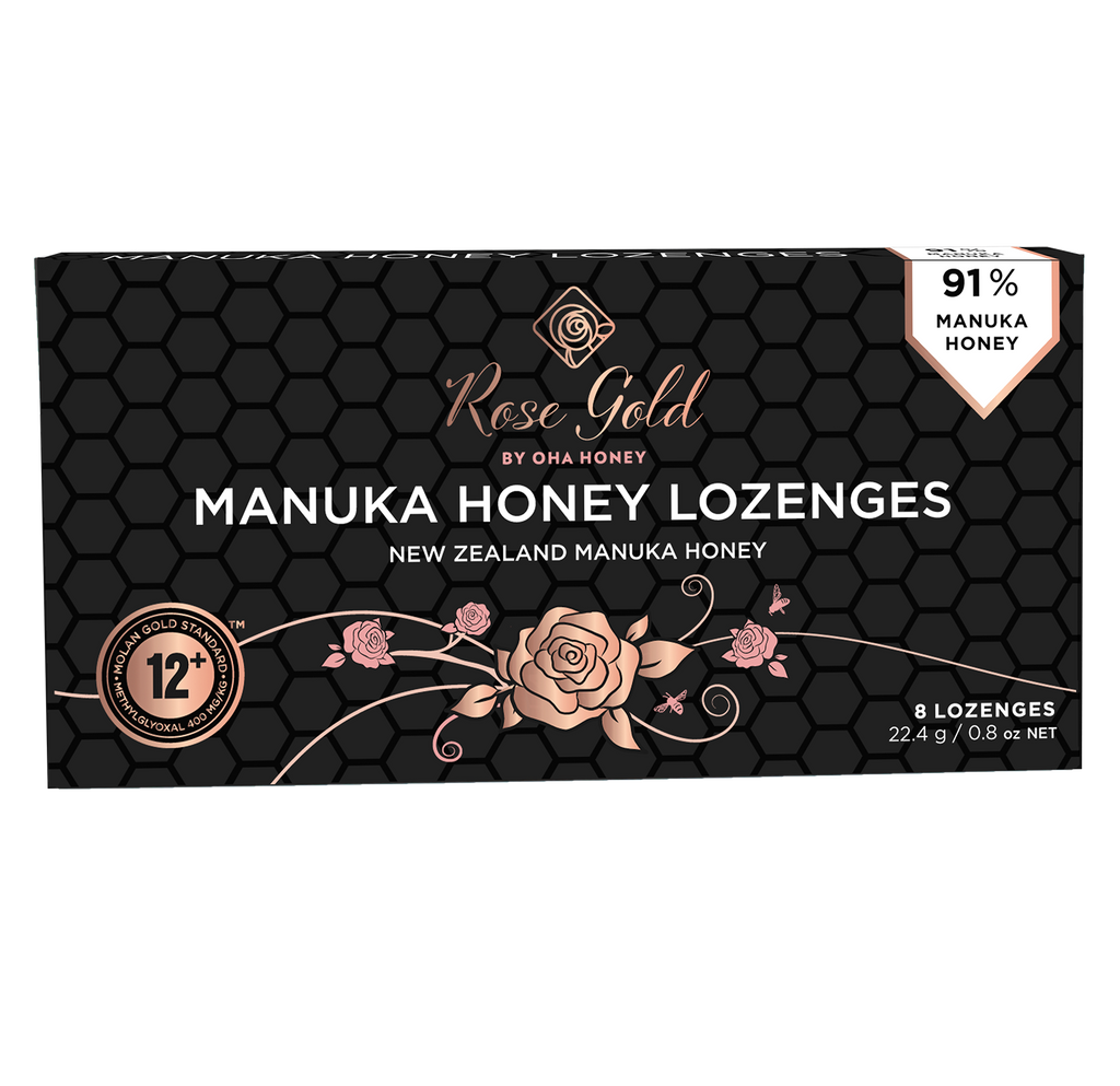 Rose Gold Manuka Honey Lozenges