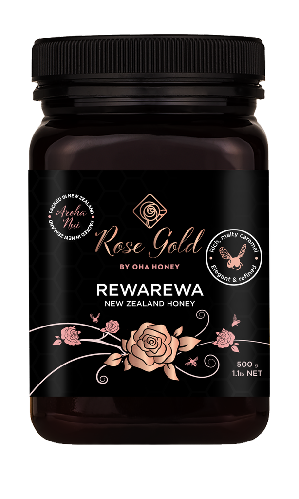 Rose Gold Rewarewa Honey