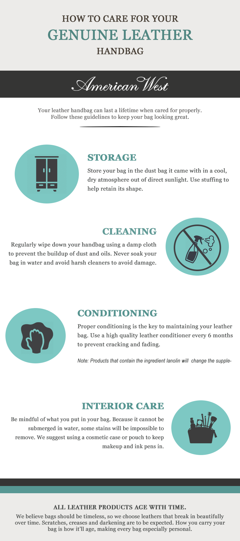 Leather handbag care instructions