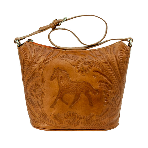 American West Hitchin' Post Zip Top Bucket Tote