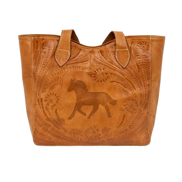 American West Hitchin' Post Tote w/ Secret Compartment
