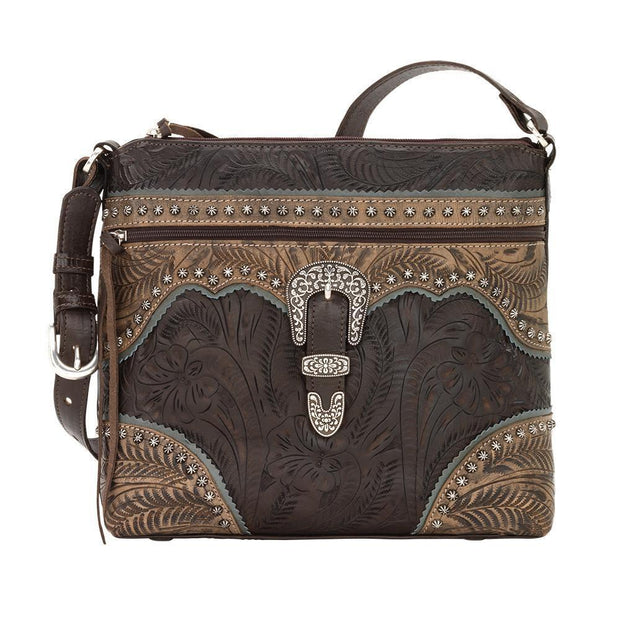 American WestSaddle Ridge Zip Top Shoulder Bag