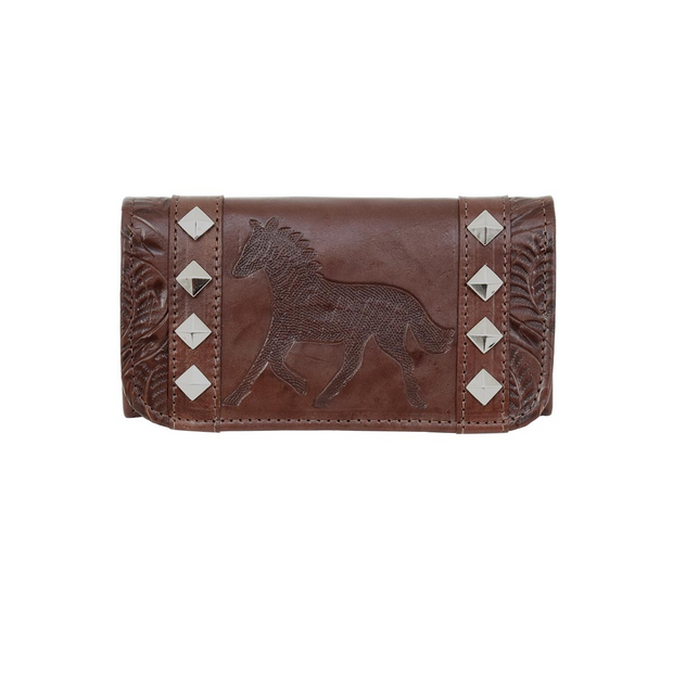 American WestHitchin' Post Ladies' Tri-Fold Wallet