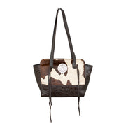 Hair-On Tote With Secret Compartment