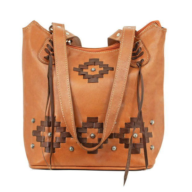 American WestTribal Weave Zip Top Bucket Tote