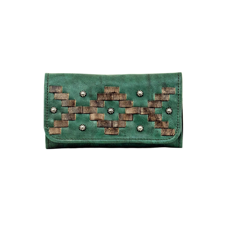 American WestTribal Weave Ladies' Tri-Fold Wallet