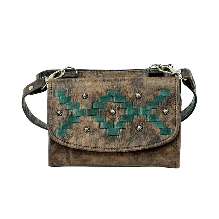 Tribal Weave Crossbody Bag/Wallet
