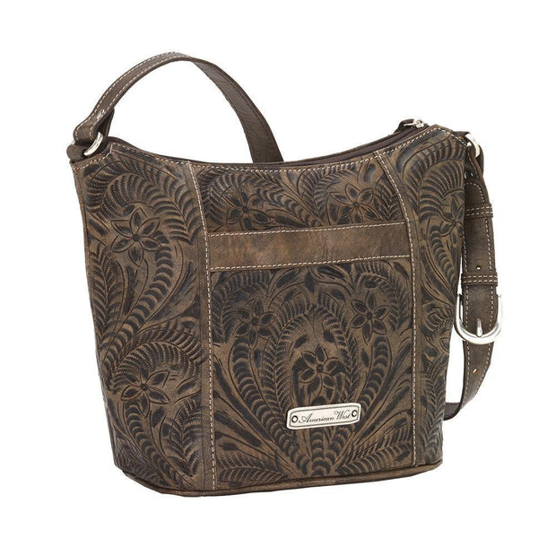 American WestHill Country Zip Top Bucket Tote
