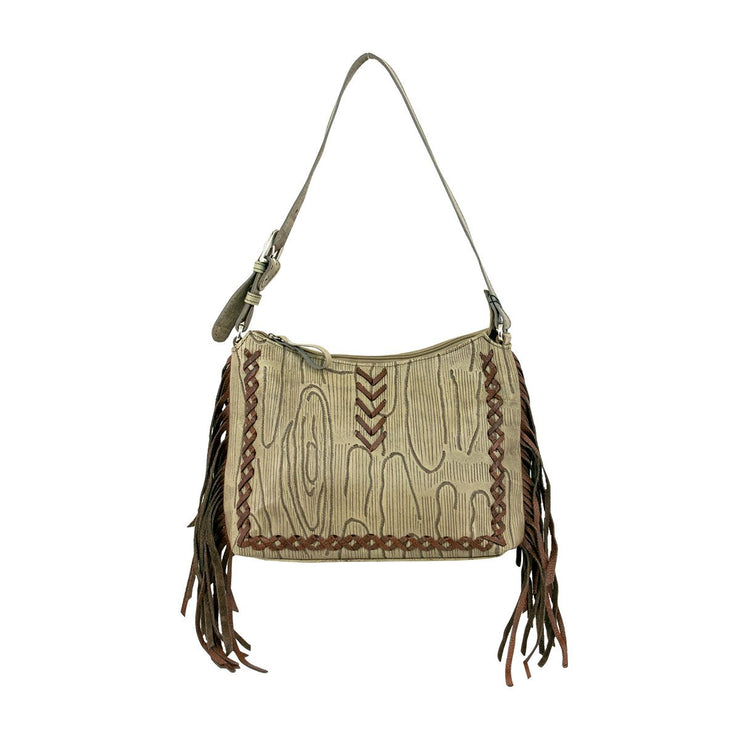 American WestDriftwood Zip Top Shoulder Bag