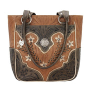 American WestDesert Wildflower Zip Top Tote With Outside Pockets