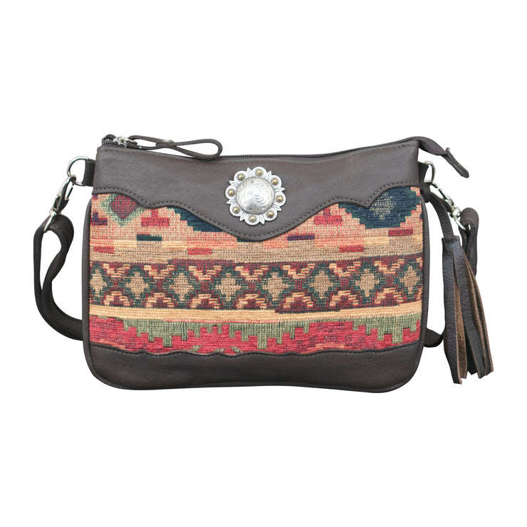 Hand Woven Tapestry Multi-Compartment Crossbody