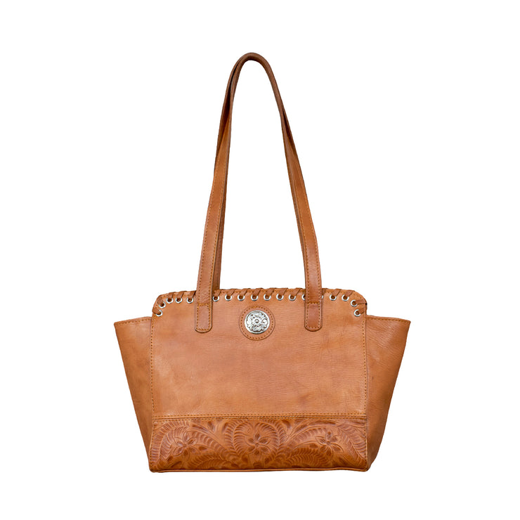 Harvest Moon Collection Zip Top Tote With Secret Compartment