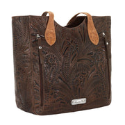 American WestAnnie's Secret Collection Large Zip Top Tote With Secret Compartment