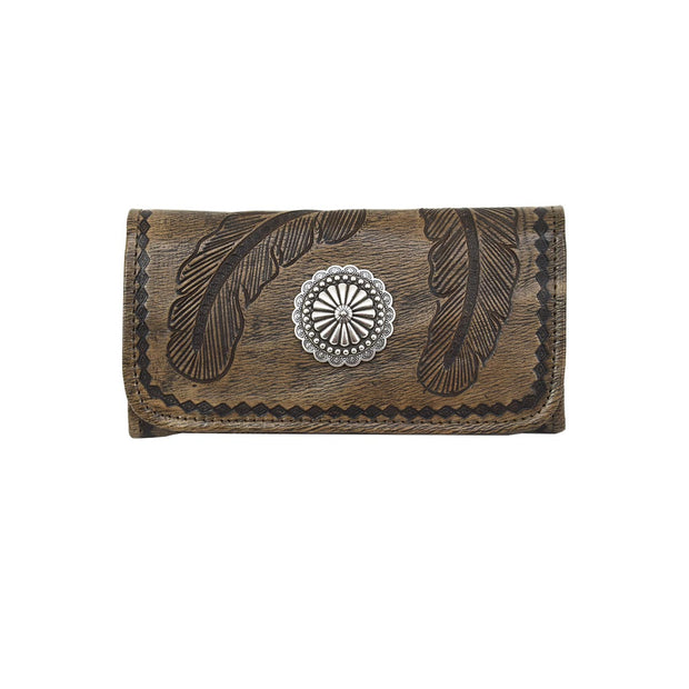 Colorful Sacred Bird Tri-Fold Wallet