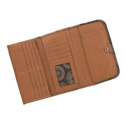 American WestTexas Rose Ladies' Tri-Fold Wallet