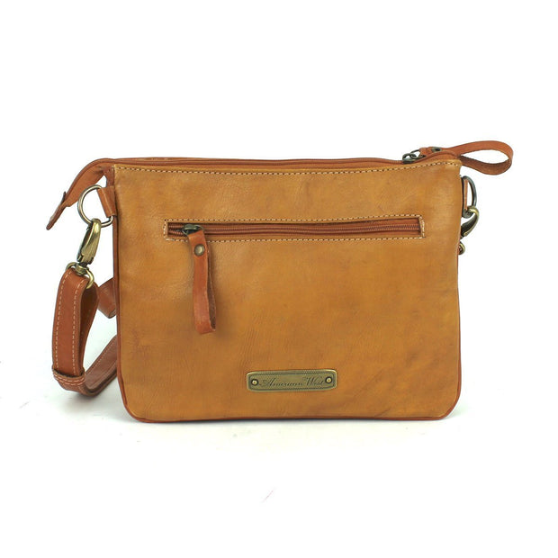 American WestTexas Rose  Multi-Compartment Crossbody