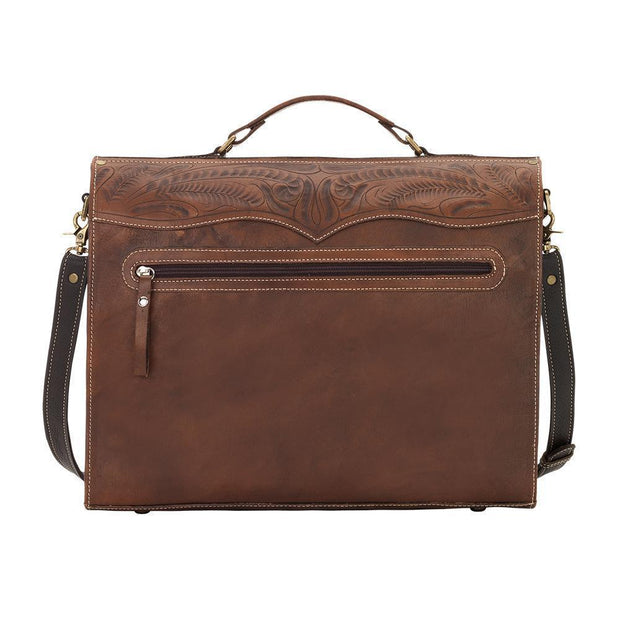 American WestRetro Romance  Multi Compartment Laptop Briefcase With Pockets
