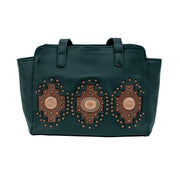 Midnight Copper Ultra Soft Zip Top Tote with Secret Compartment