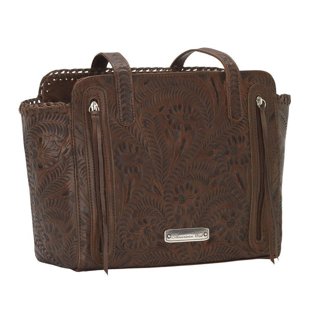 American WestAnnie's Secret Collection Zip Top Tote With Secret Compartment