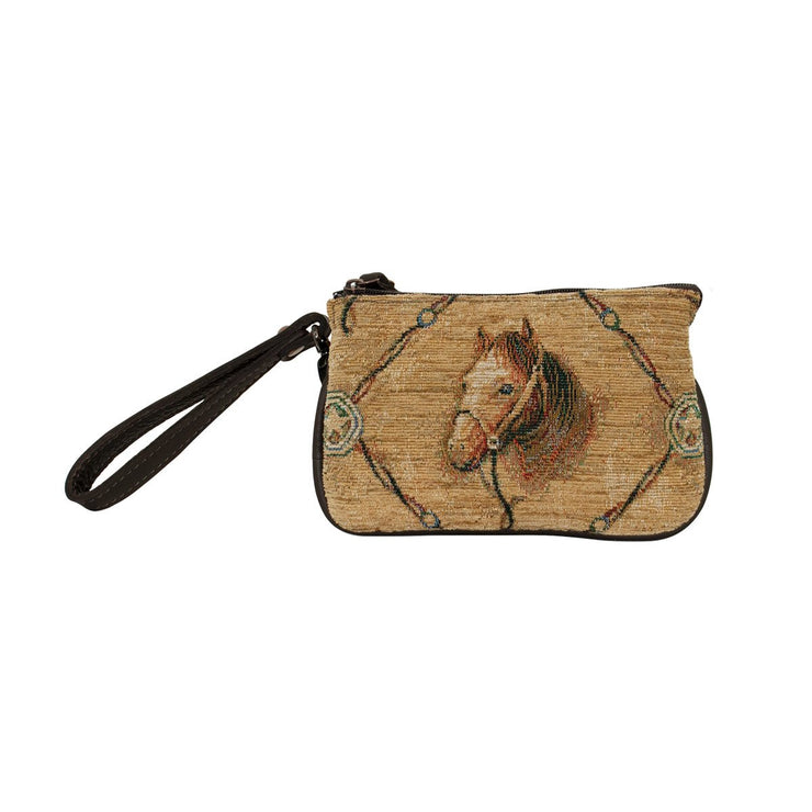 American WestBridle and Bits Tapestry Event Approved Bag/Wristlet