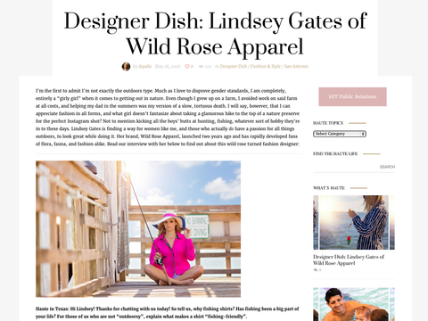 Haute in Texas Designer Dish on Wild Rose Apparel
