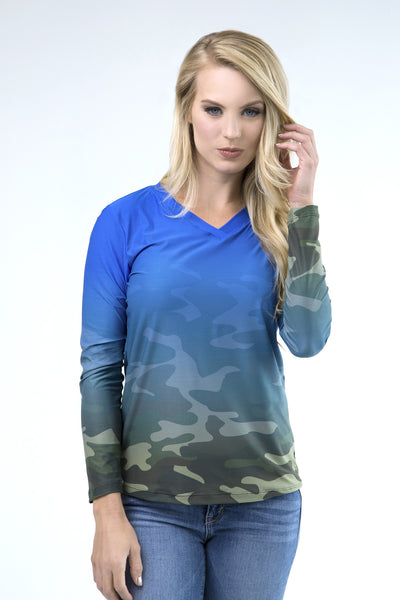 UPF50 shirt for active women, wild rose apparel