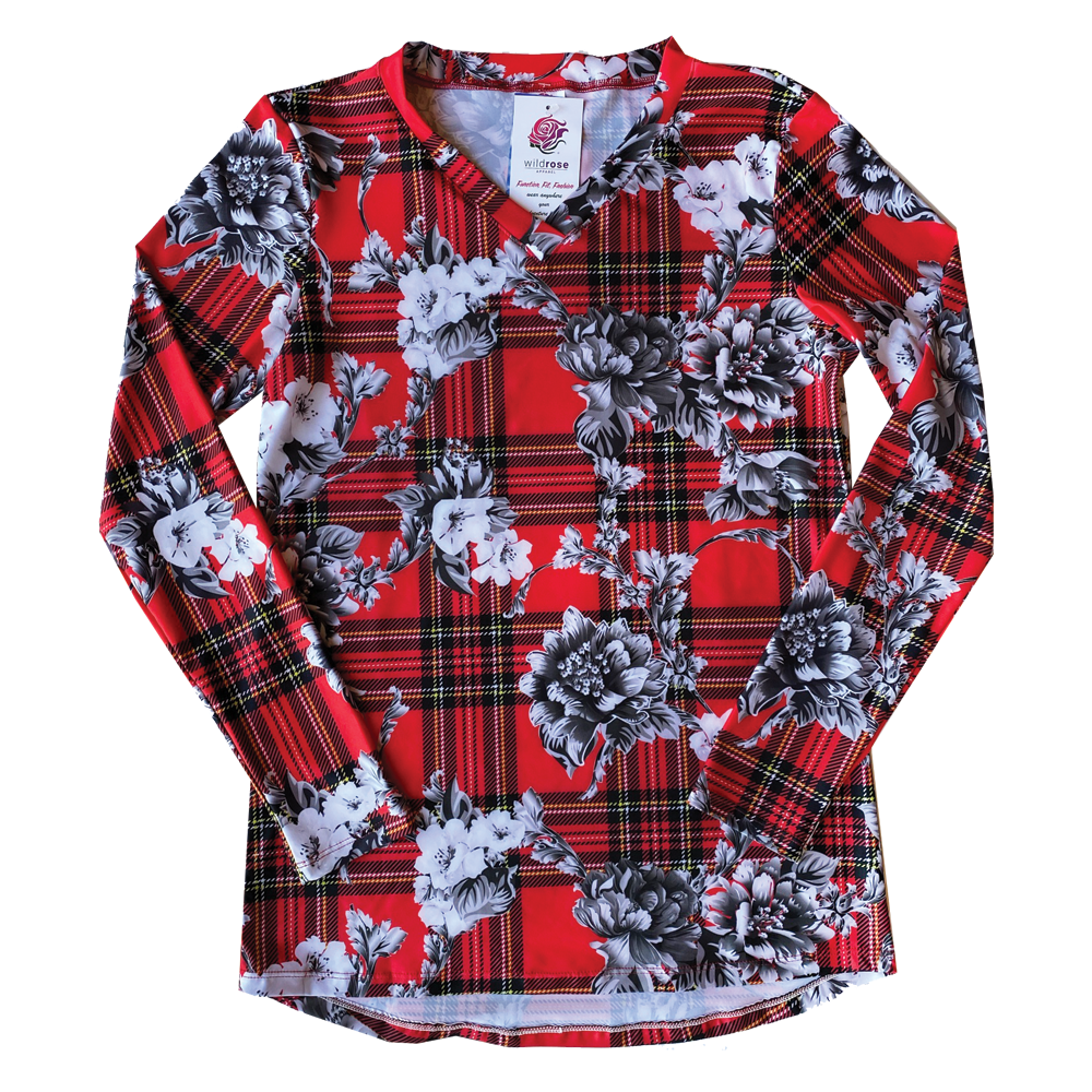 Buffalo Plaid UPF50+ V-Neck