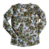Wild Rose Original Camo Butterfly UPF50+ V-Neck