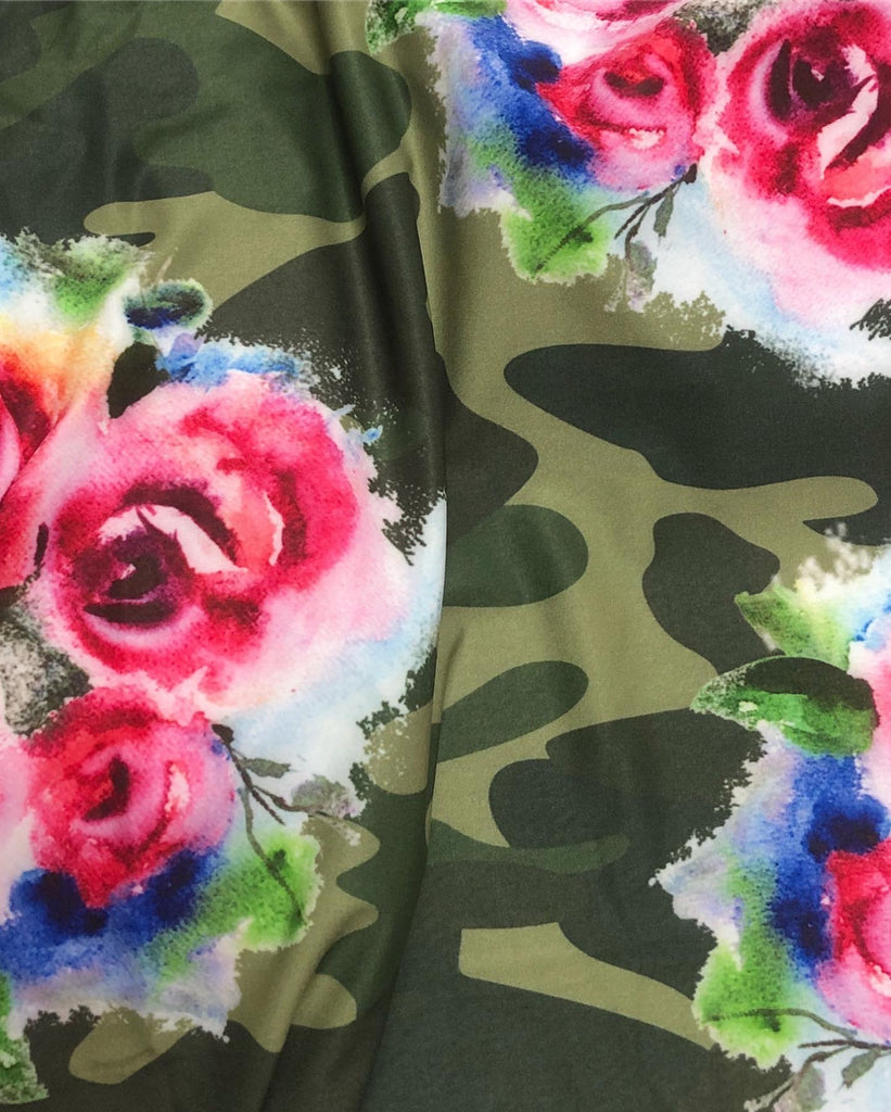 Wild Rose Army Camo V-Neck