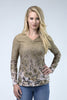 Wild Rose Original Camo Khaki UPF50+ V-Neck