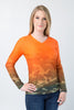 Orange Army UPF50+ V-Neck
