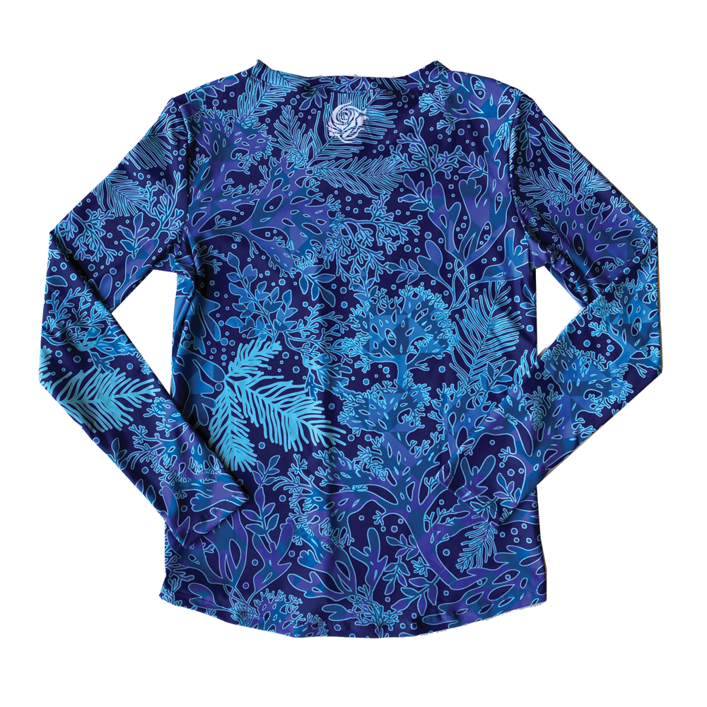 Blue Coral UPF50+ V-Neck