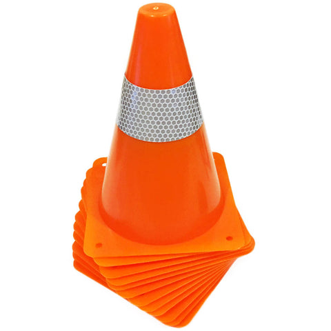 Kids Reflective Construction Cones - 12 Pack