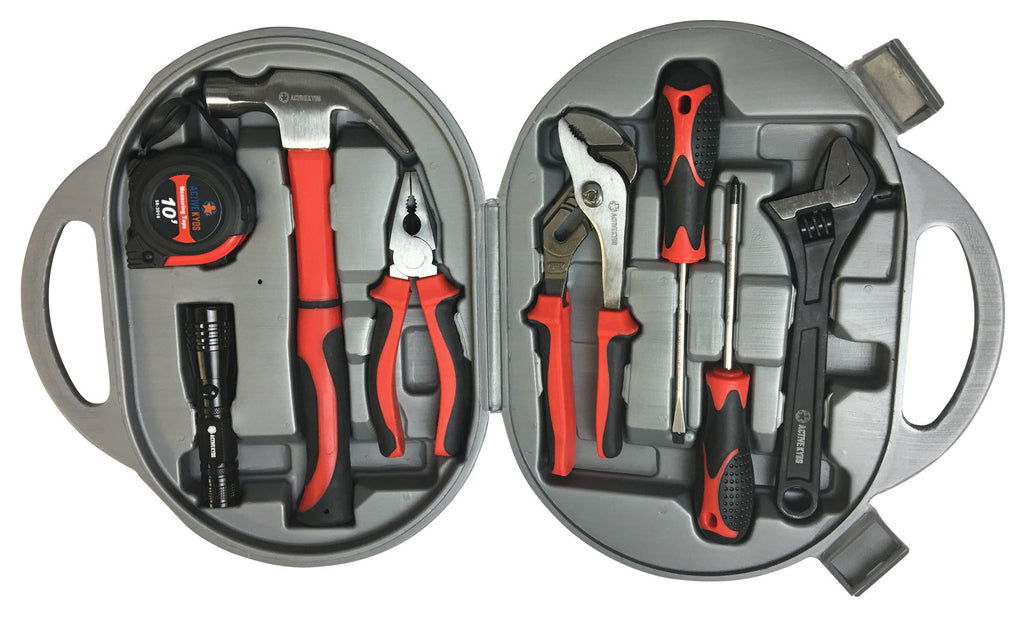 Active Kyds 9 Piece Kids Real Tool Set