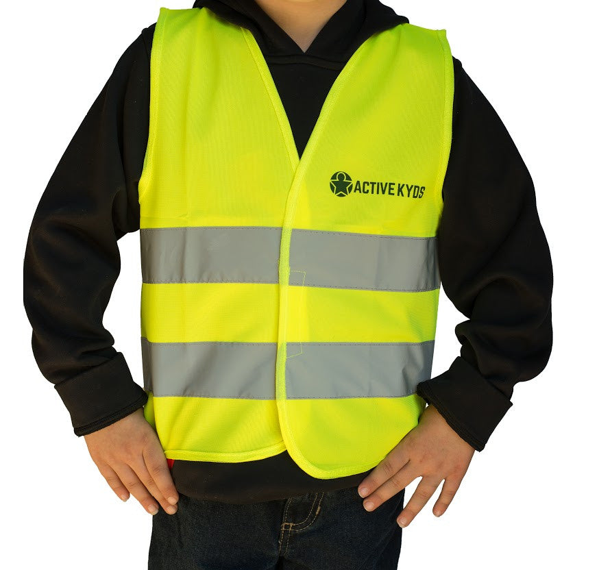 kids yellow safety vest