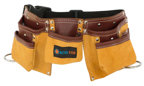 Kids Two Tone Leather Tool Belt