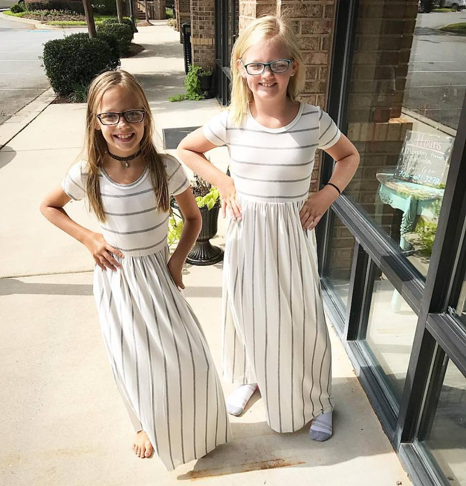 """Delilah"" Kid's Striped Maxi"