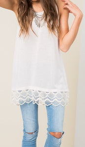 Kids Lace Trim Tunic