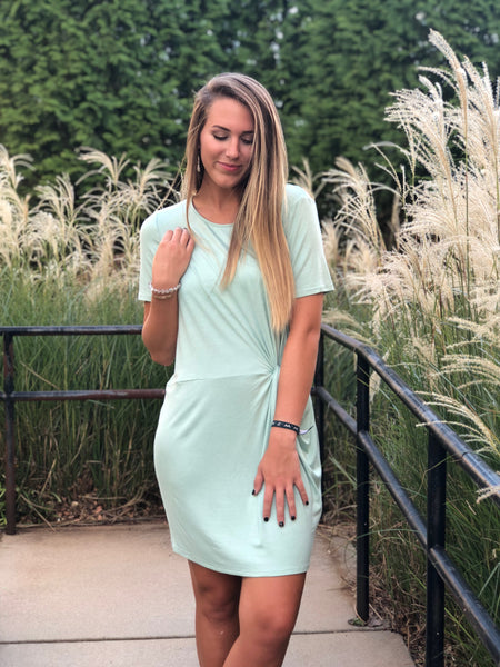 Short Sleeve Knit Dress