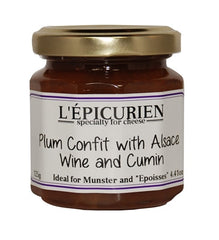Plum Confit with Alsace Wine and Cumin