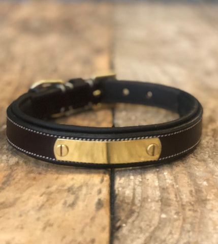 Flat Padded Nameplate Collar