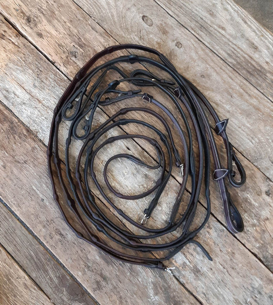 Soft Notched Leather Reins