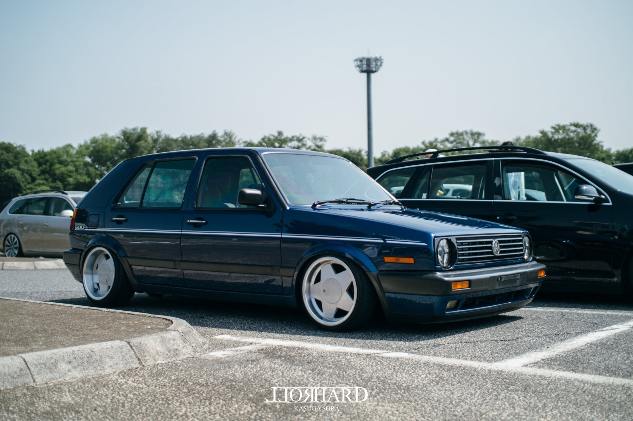 RollHard Show Coverage, VagCruise Japan, Japanese Volkswagens, VWs, modified cars, custom VWs volkswagens, bbs, borbet b, coilovers, airride, jetta, mk2 golf, mk5 golf, japanese car community, r32 golf, car culture