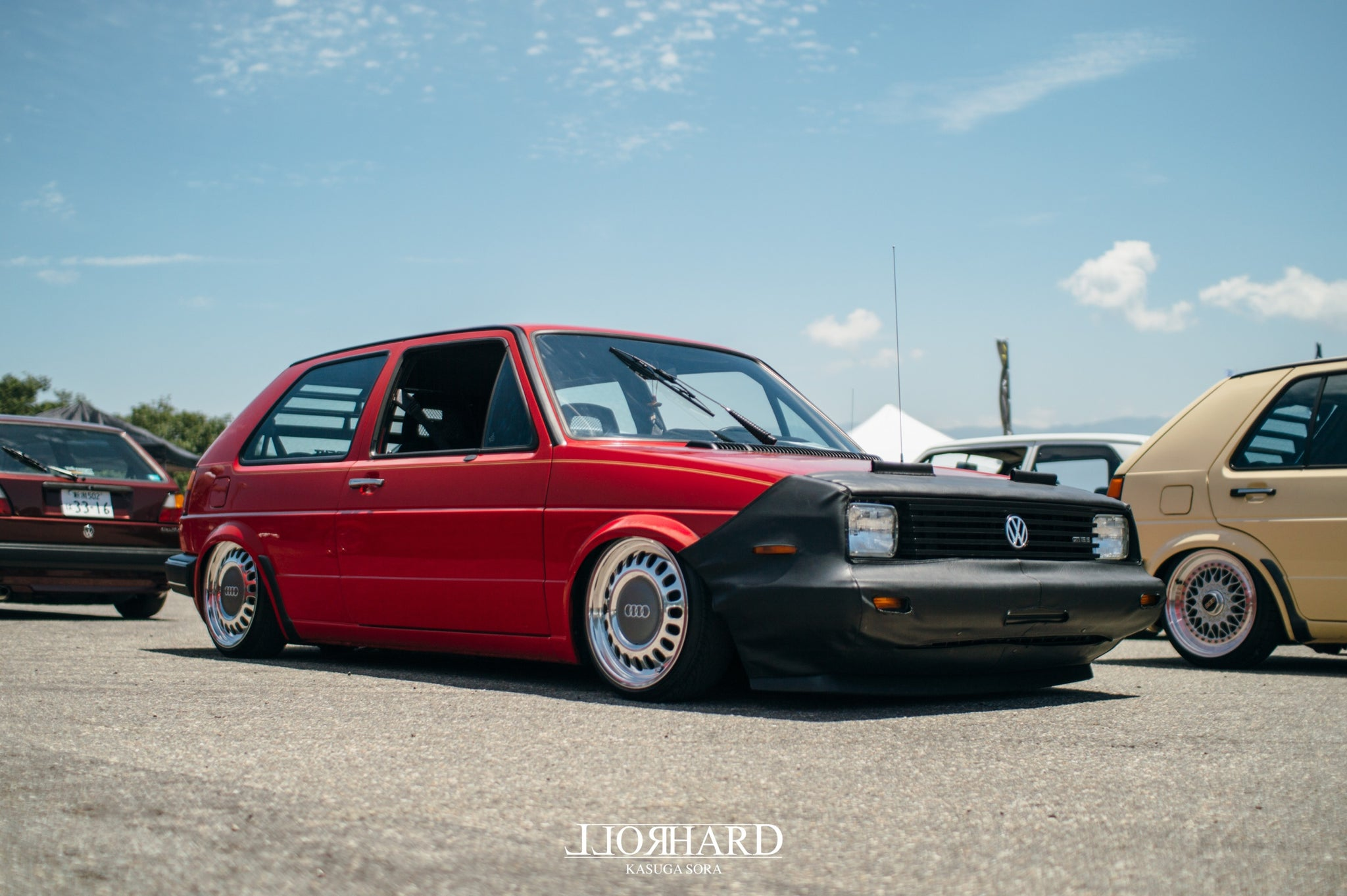 RollHard Event Coverage - Wreckin' Meet 2018. Nanto-shi, Toyama, Japan. JDM, BBS RS, Schimdt TH, Euro style, Volkswagen, modified cars, japanese tuning scene