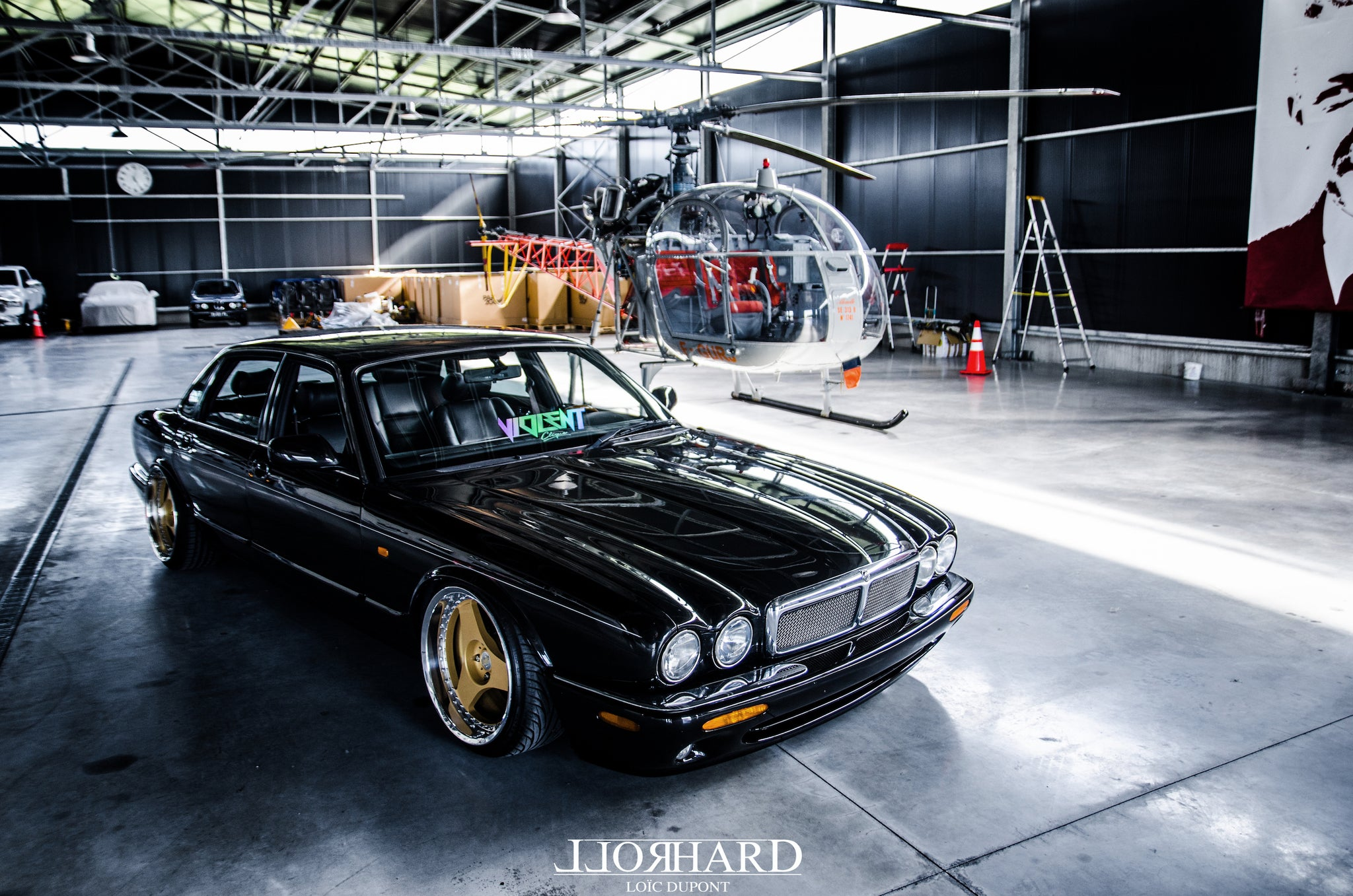 Jaguar XJ 3.2 1997 RollHard Feature, Work Voggard 18x10.5 airride, modified jag, modified car, low, euro, three-piece, three-spoke wheels, 3 spoke, slam sanctuary, ilb drivers club, french modified car