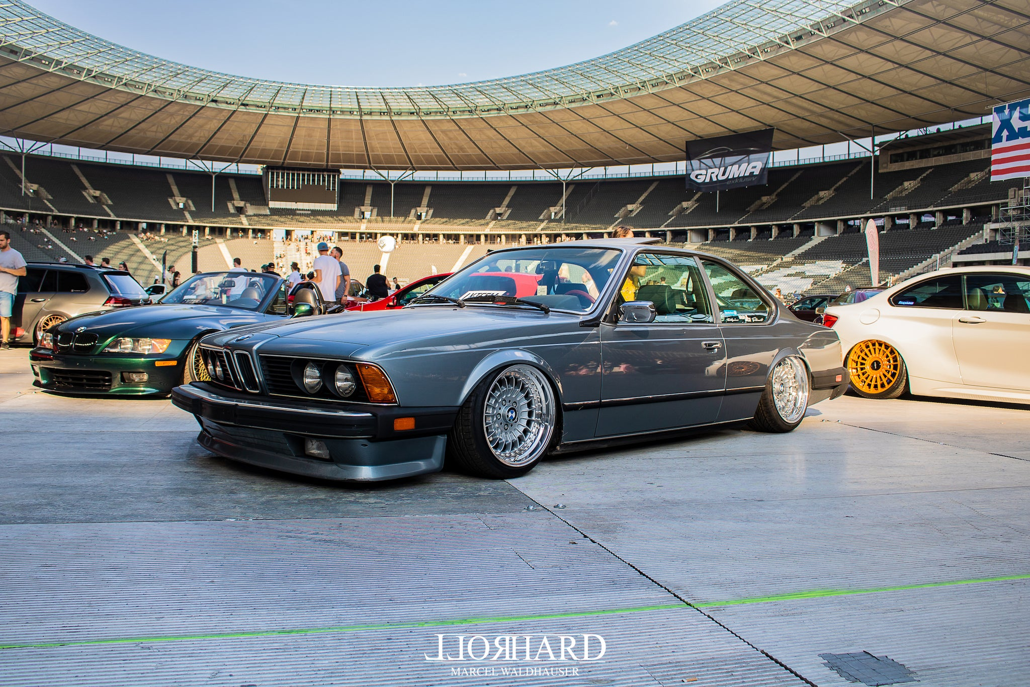 XS Carnight, Berlin Olympic Stadium, XS Mag, Sourkrauts, BBS wheels, rotiform, airlift, airride, low cars, stance, low car community