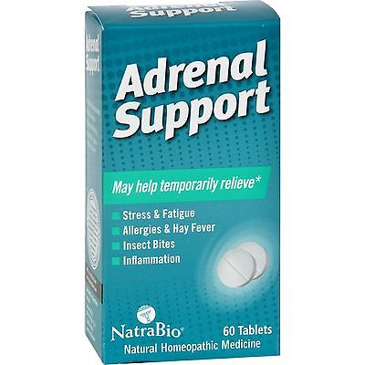 NatraBio Adrenal Support (1x60 TAB)